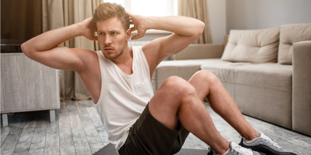 young man exercising-exercise for erectile dysfunction