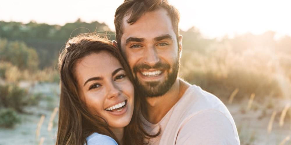 young happy couple-fertile couple