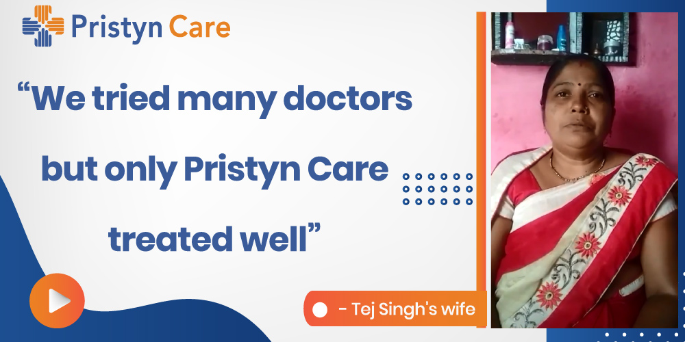 Pristyn Care Patient Review -  Tej Singh Tomar's wife