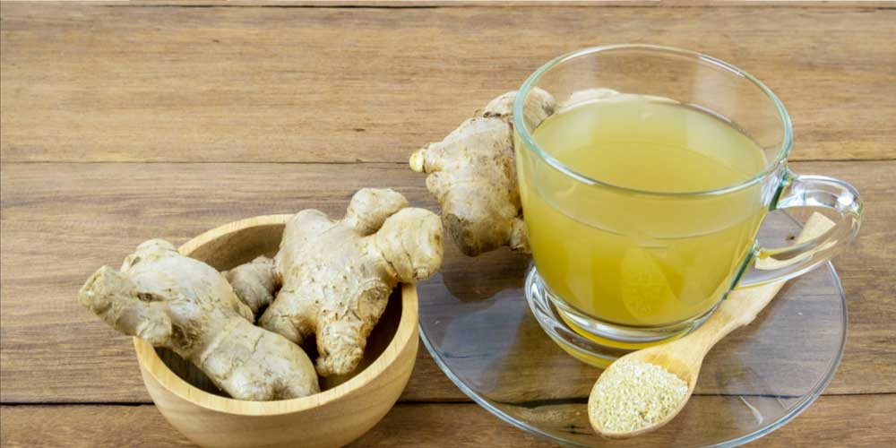 Ginger tea for hydrocele home treatment