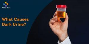 what causes dark urine
