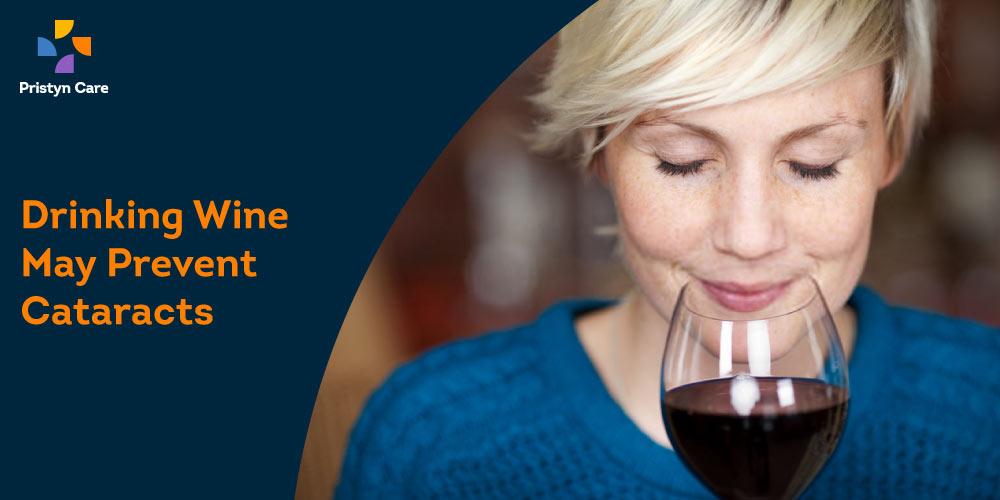 wine prevents cataract development
