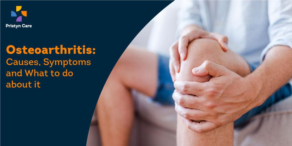 man having pain due to Osteoarthritis